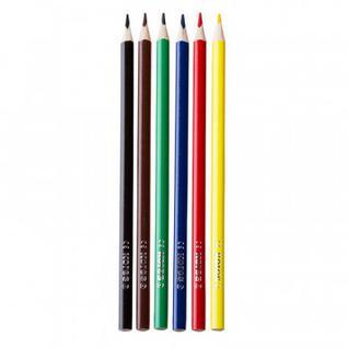Карандаши цветные 6цв 3-гран Kores Kromas 93396
