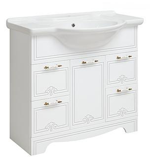 Тумба для ванной Runo Кантри 85 без Раковины (Дрея 85) Белая
