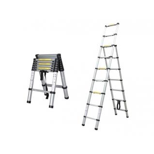 Лестница-стремянка телескопическая алюминиевая 251 см 16,2кг STARTUL (ST9713-810) STARTUL