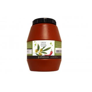 OPHELLIA Зеленые оливки фаршированные перцем халапеньо OPHELLIA 1500 гр.