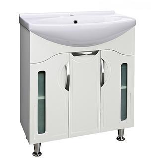 Тумба для ванной Runo Толедо 75 без Раковины (Лагуна 75) Белая