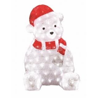 """Neon-Night Акриловая светодиодная фигура """"Медвежонок в красном колпаке"""" 56 см, 200 светодиодов, IP 44, понижающий трансформатор в комплекте, NEON-NIGHT"""
