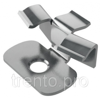 Металлический кляймер Hilst Fix prof 3d alum 38*30*10 мм Gardeck