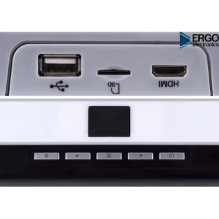 """Автомобильный потолочный монитор 17.3"""" со встроенным Full HD медиаплеером ERGO ER17S (серый) (+ беспроводные наушники в подарок!)"""
