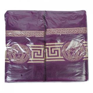 Набор полотенец махровых с греч.бордюром 50х90 2шт, 70х140 1шт, фиолетовый