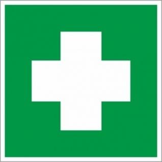 Знак безопасности EC01 Аптечка 1й мед.помощи (плёнка,ф/л,200х200)