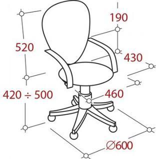 Кресло VT_EChair-304 TC Net ткань черн/сетка серая, пластик