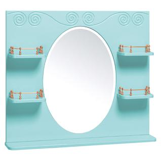 Зеркало для ванной Runo Винтаж 85 Лазурное