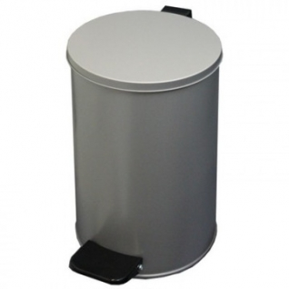 Урна педальная круглая 10 л серый металлик, 200 ммx310 мм