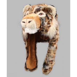 TrueFur Шапка меховая с ушами Леопард H0046