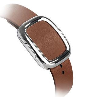 Ремешок кожаный COTEetCI W5 NOBLEMAN (WH5201-BR) для Apple Watch 44мм/ 42мм (современная пряжка) Brown - Коричневый