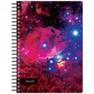 Бизнес-тетрадь 120л,А4,Space Galaxy,300х210мм,70г/квм,белый,карман