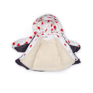Комплект MalekBaby (Куртка + Полукомбинезон), Без опушки, №315/1 (Лисички+серый) арт.409ШМ
