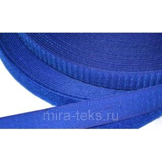 Липучка 50 мм ( лента контакт, велькро ) для одежды, цвет: василек Miratex