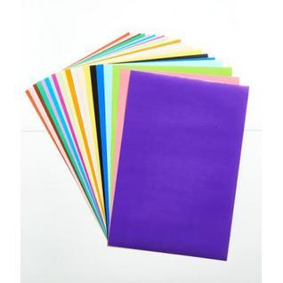 Бумага цветная 20л.20цв,А4 немелован,самоклеящаяся №6,11-420-52
