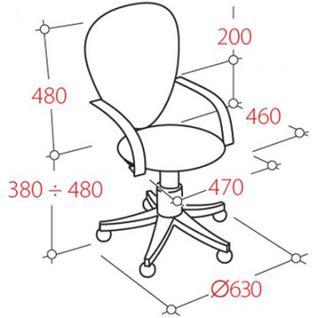 Кресло UP_Prestige жест.подл.Самба ткань серая C02/ТК3