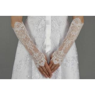 Перчатки свадебные №227, белый (средней длины)