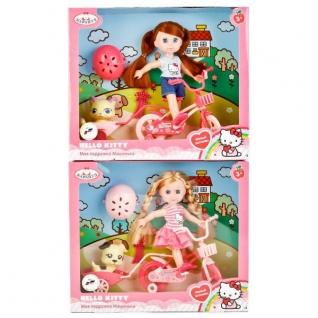 """Кукла """"Карапуз"""" Hello Kitty. Машенька 15см На Велосипеде, С Питомцем И Аксесс."""