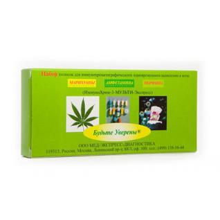 Тест на выявление три вида наркотиков, Мульти-Экспресс