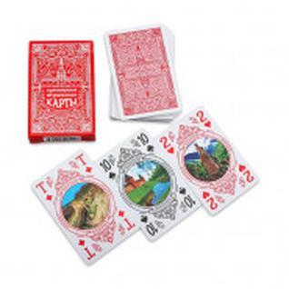 Карты игральные Сувенирные серия Чудеса России 54 шт/колода ИН-2500