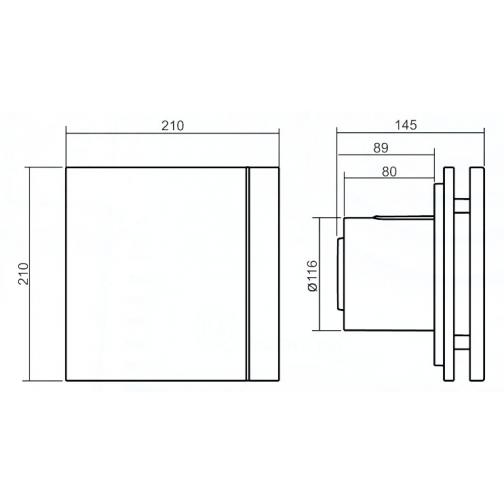 Вентилятор Soler & Palau Silent-200 CHZ Silver Design-3C 6770102 2