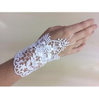 Перчатки свадебные №157, белый (13 см)