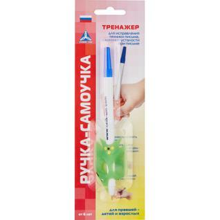 Ручка шариковая самоучка-тренажер для обучения правшей, от 3лет, АВ-4783