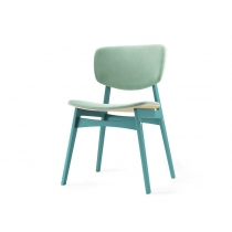 Мягкий стул SID Светлая берёза + бирюзовый