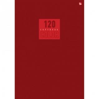 Бизнес-тетрадь А5 120л,кл.Шв.кл. крепл.Обл.мел.карт,мат.лам.красн.Т51205172