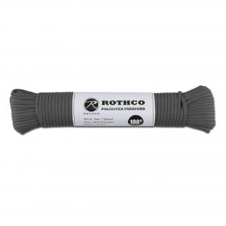 Rothco Паракорд 550 lb 100 фт. полиэстер серого цвета