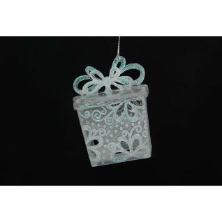 Украшение Подарочная коробка, цвет матовый иридий