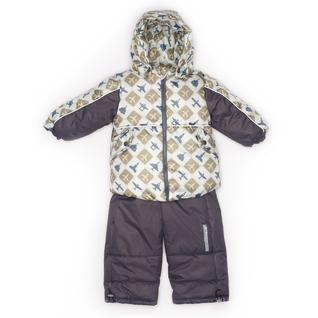 Комплект MalekBaby (Куртка + Полукомбинезон), Без опушки, №223/1 (Самолеты+серый) арт.409ШМ