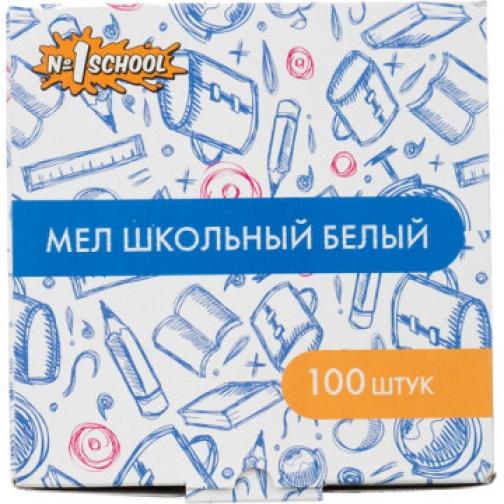 Мел школьный №1 School Отличник белый 100шт картон 37856407