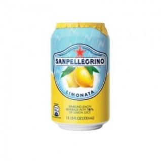 Напиток газ. сокосодерж. Sanpellegrino лимон, 0,33 л, 6 шт/уп