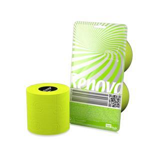 Туалетная бумага трехслойная RENOVA CRYSTAL цвет зеленый 140 листов, 2 рулона