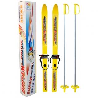 """Детские лыжи """"Вираж-спорт"""" с палками, 100 см Цикл"""