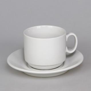 Чайная пара Экспресс белая, фарфор чашка 220мл блюдце d-14см(6С1628Ф34)