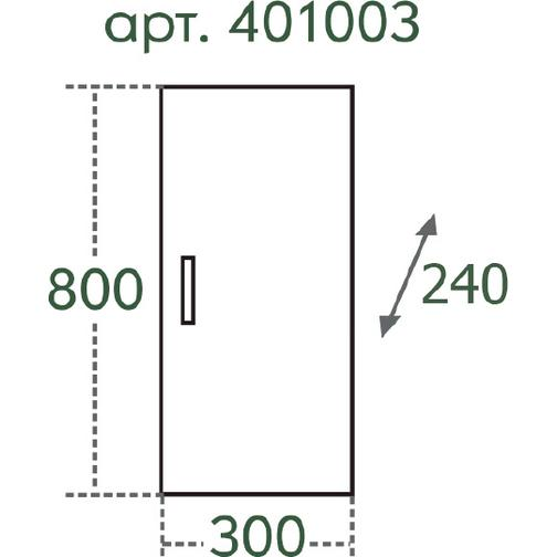 Шкаф СанТа ПШ 30х80 38304106 5