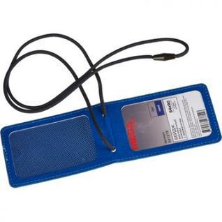 Бейдж Promega office вертик. 54х90,синий, кожзам, с держа телем,Т-835L