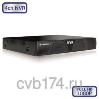 4-канальный IP видеорегистратор MATRIX M-4IP Light