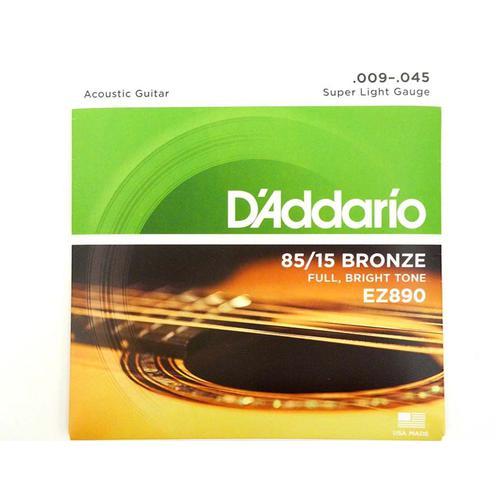 Струны для акустической гитары D'ADDARIO EZ890 Bronze 9-45 36980497