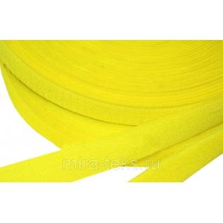 Липучка 50 мм ( лента контакт, велькро ) для одежды, цвет: желтый Miratex