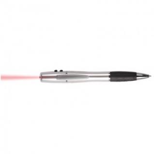 Указка лазер.ручка шарик. 3в1 серебр.+ красн.лазер+фонарь LH612СР син.