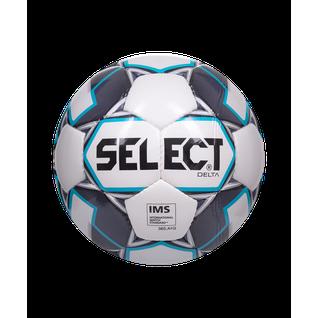 Мяч футбольный Select Delta Ims 815017, №5, белый/темно-синий/голубой (5)