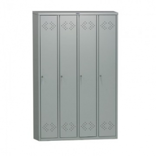 Метал.Мебель ПРАКТИК LS-41 шкаф д/одежды 4 дв.1130х500х1830