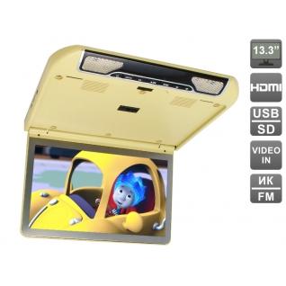 """Автомобильный потолочный монитор 13.3"""" со встроенным FULL HD медиаплеером AVIS AVS440MPP (бежевый) Avis"""