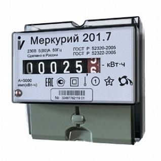 Электросчетчик Меркурий 201.7 однотарифный